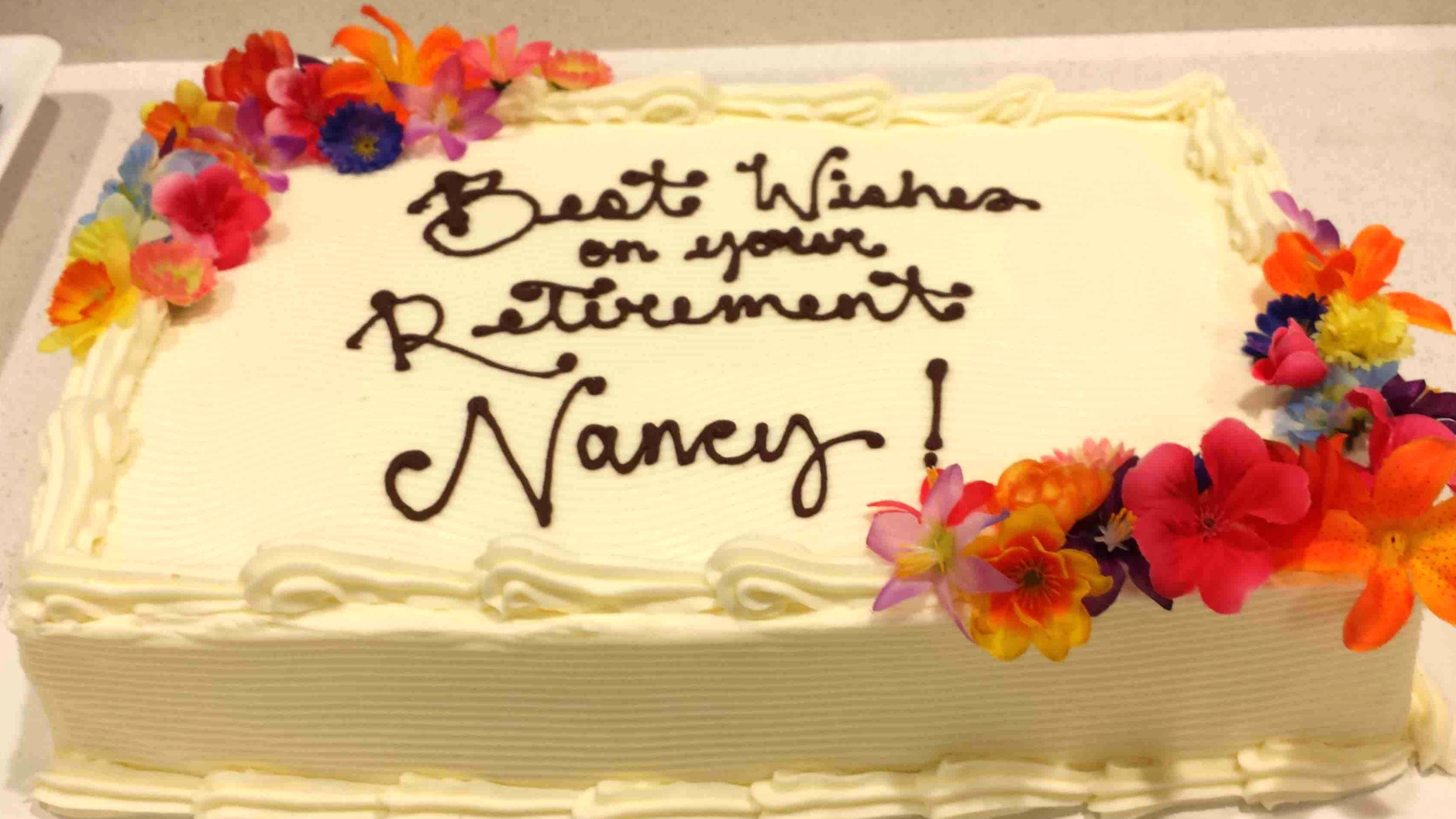Retirement Cake with silks